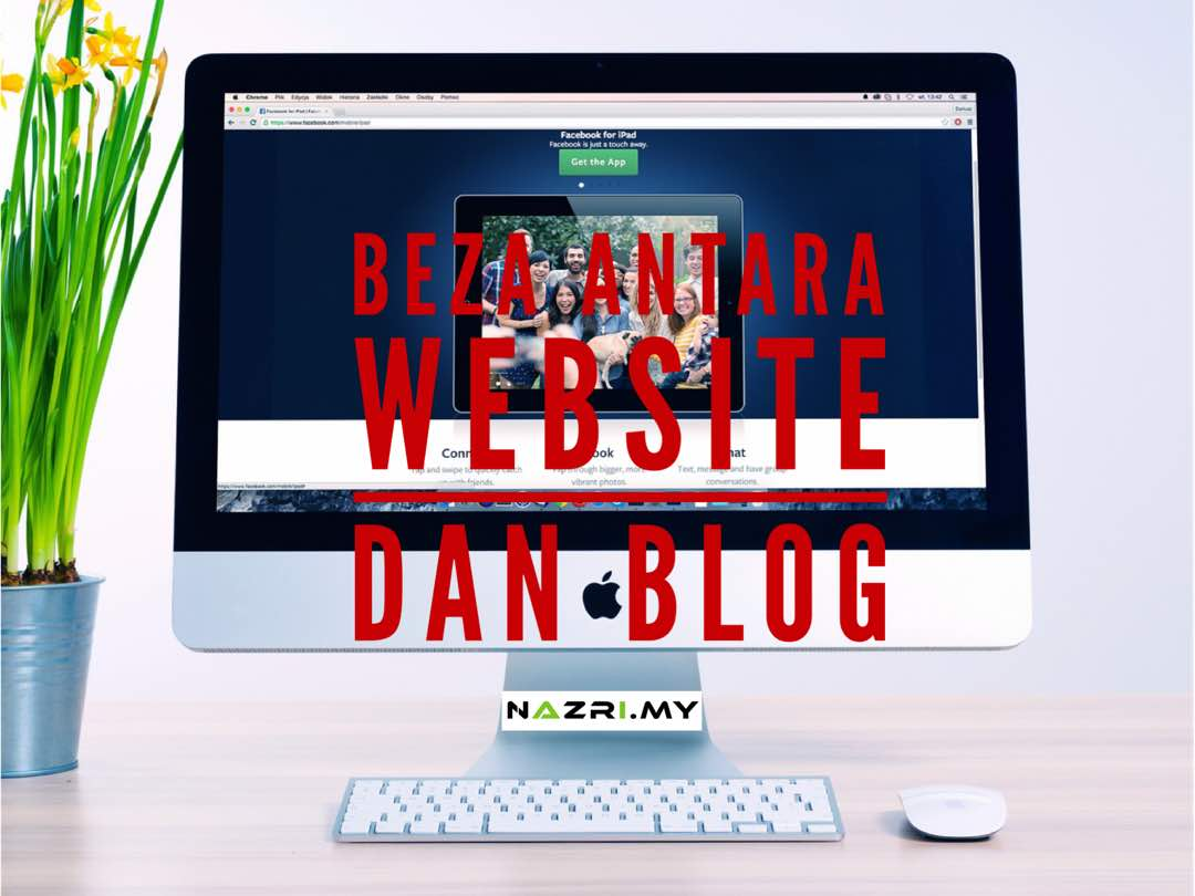 Beza antara website dan blog